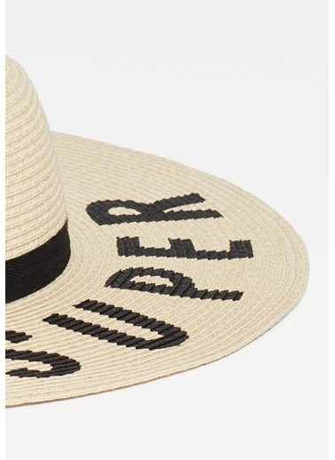 Mavi Hasır Şapka Bej